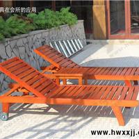 供应深圳实木躺椅、户外游泳池躺椅