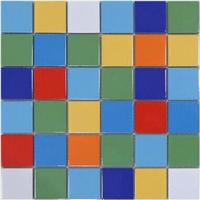 供应马赛克陶瓷砖 缤纷彩色泳池儿童游乐场
