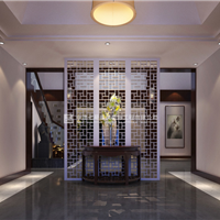 精装公寓新中式装修效果图案例_安彩公寓