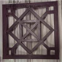 供应杭州外墙装饰木纹型材格栅铝窗花隔断