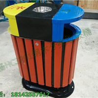 供应园林景区垃圾桶 木制分类垃圾箱