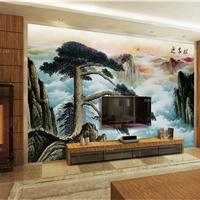 供应康木居特3D私人订制画背景墙山水画3D板