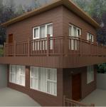 木塑木屋 警亭 路边亭 环保墙板 木塑