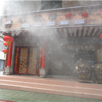 高压微雾加湿机与喷雾降温系统相结合