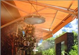 生态酒店喷雾降温设备结合了国外高尖端技术