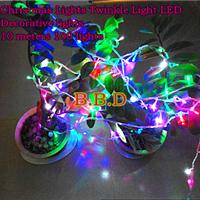 供应节日装饰LED灯串圣诞节灯串点缀LED星星LED灯串