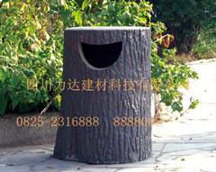 仿木凉亭/仿木垃圾桶生产厂家――四川力达建材