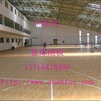 木地板篮球场 室内木地板运动场