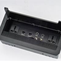 供应桌面插座,带毛刷式桌面插座,铝合金材质高档桌面插座