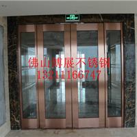 佛山厂价加工不锈钢大门,彩色不锈钢大门