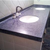 供应广州人造石台面价格,蓝色人造石洗手间台面,酒店洗手台面