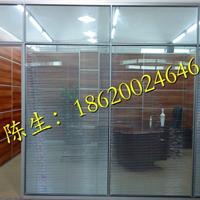 深圳办公室玻璃中间带百叶帘隔墙