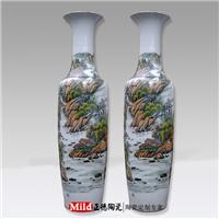 供应国画山水陶瓷大花瓶