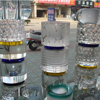 供应水晶玻璃叠层柱装潢柱