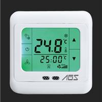 供应YK608中央空调风机盘管触摸式液晶温控器控制面板