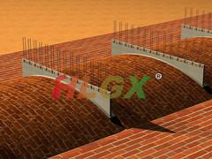 供应老式拱顶隧道窑用新型高铝挡风板