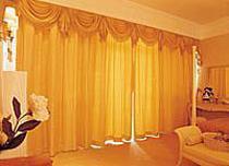 供应别墅窗帘定做高档布艺窗帘