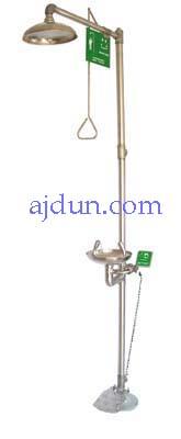 高品质不锈钢立式冲淋器 化学物质喷溅洗眼器