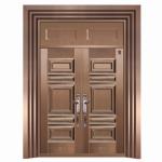 供应西州牌真铜门 真铜别墅大门 玻璃铜门 豪华铜门 镀铜门
