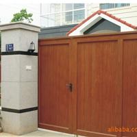 供应仿木铝型材别墅仿木庭院门