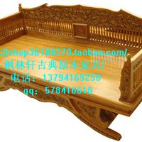 供应罗汉床 仿古 明清 家具 现代简约 床类家具 出口高床