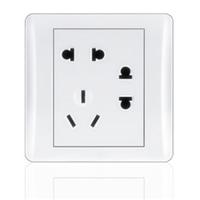供应二二三插座 正品 特价 开关插座 七孔插座 86型 面板