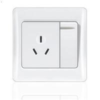 供应一位开关带16A三孔插座 正品 特价 空调插座 插座面板