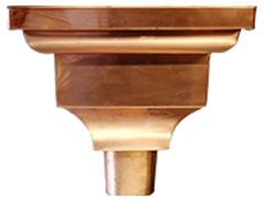 供应成品紫铜檐沟落水系统