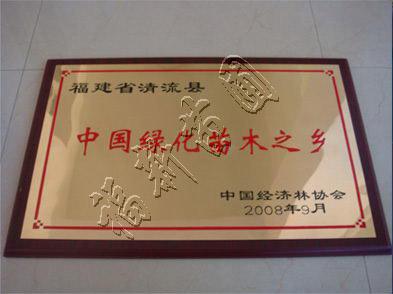 """清流县""""中国绿化苗木之乡""""等授牌仪式在京举行"""