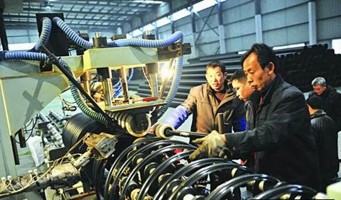 钢丝网骨架增强塑料复合管生产