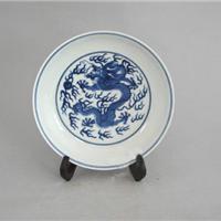 景德镇瓷器,景德镇陶瓷赏盘, 手绘青花瓷器盘,来图来样定做