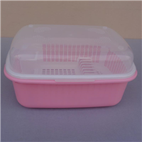 加厚塑料带盖碗柜批发