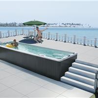 蒙娜丽莎户外泳池酒店无边际冲浪按摩泳池进口亚克力浴池水疗浴缸