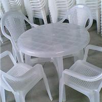供应纯PP料透明塑料桌椅