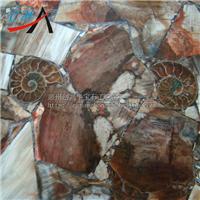 供应宝石水晶木化石板材高档时尚酒吧装饰