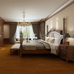 仿古实木地板系列――栎木(红金色)