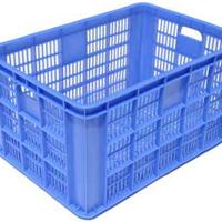 供应厦门塑料筐 蓝色塑料筐子 周转塑料筐