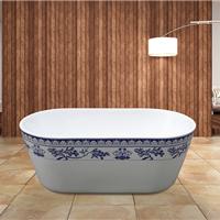 亚克力青花瓷浴缸
