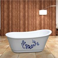 供应亚克力青花瓷浴缸