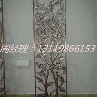 套间客厅青古铜铝板雕刻隔断订做