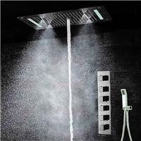 LED天幕式多功能顶喷入墙恒温暗装淋浴套装