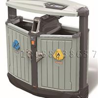 供应公园金属分类果皮箱、较低价批发