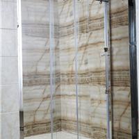 淋浴房隔断厂家 钢化玻璃卫生间移门厂家