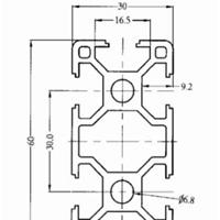 供应3060工业铝型材
