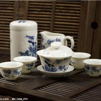 供应高档茶具套装礼品 手绘陶瓷茶具