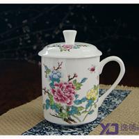 供应会议陶瓷茶杯  青花瓷茶杯 日用杯