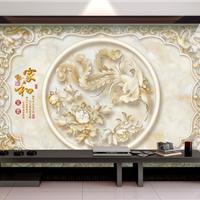 3D背景墙,玉雕背景墙,立体背景墙