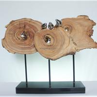 供应自然原木雕塑,实木雕塑摆件