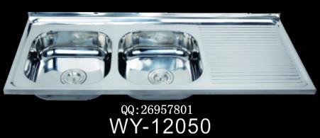 供应出口东南亚 南美1.2米带板不锈钢水槽